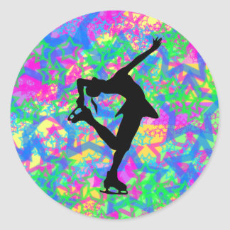 Figure Skater - Colorful Stars Sticker