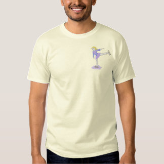 Figure Skater Girl Embroidered T-Shirt