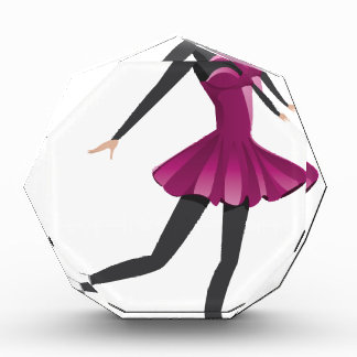 Figure Skater in Pink Dress Acrylic Award