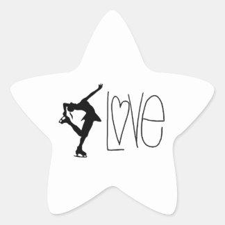 Figure Skater Love Star Sticker