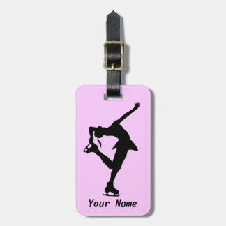 Figure Skater Luggage Tag