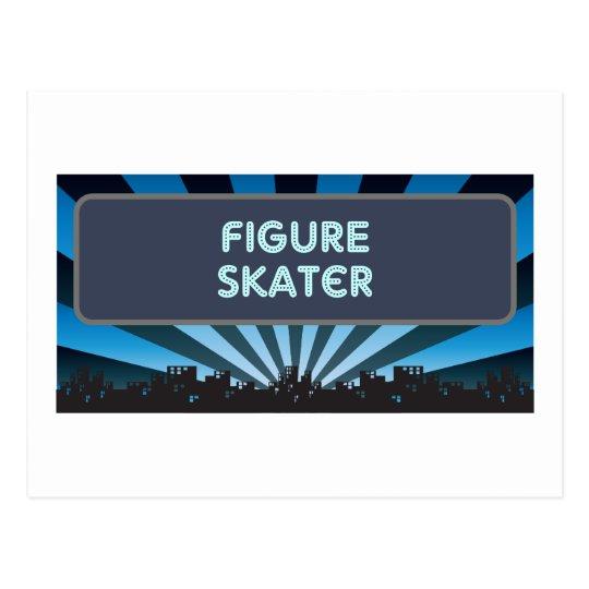 Figure Skater Marquee Postcard