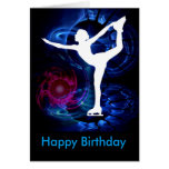 Figure Skater on Technicolor Ice Greeting Card