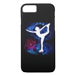 Figure Skater on Technicolor Ice iPhone 8/7 Case