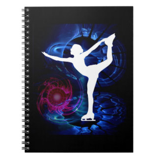 Figure Skater on Technicolor Ice Notebook