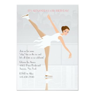 Figure Skater Party Invitation
