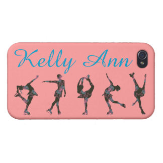 FIGURE SKATER PHONE CASE, PATTERN, NAME COVER FOR iPhone 4