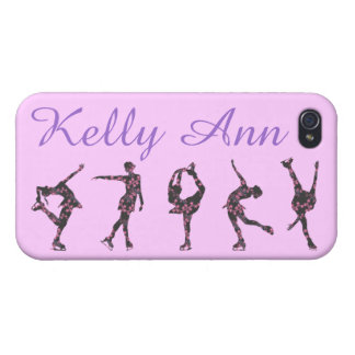 FIGURE SKATER PHONE CASE, PATTERN, NAME iPhone 4/4S CASE