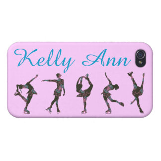 FIGURE SKATER PHONE CASE, PATTERN, NAME iPhone 4 COVER