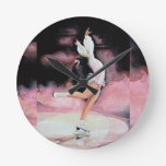 Figure Skater Round Wall Clock