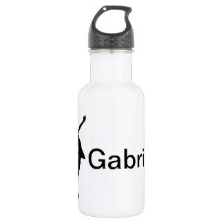 Figure Skater Stainless Steel Water Bottle