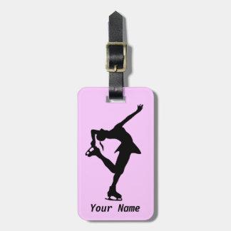 Figure Skater Travel Bag Tags