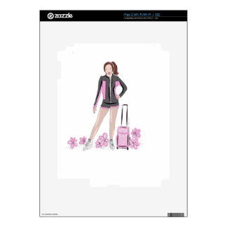 Figure Skater With Zuka Bag Decals For iPad 2