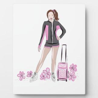 Figure Skater With Zuka Bag Plaque