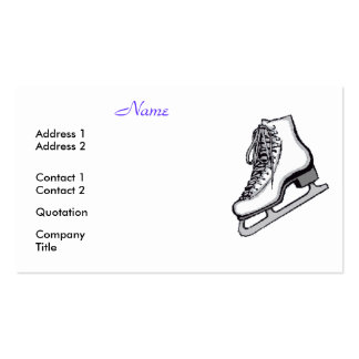 Figure Skaters Are Cool Business Cards