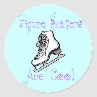 Figure Skaters Are Cool Classic Round Sticker
