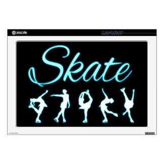 Figure Skaters Blue Glow Laptop Skins