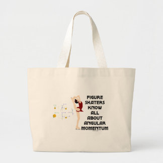 Figure Skaters Know All About Angular Momentum Large Tote Bag