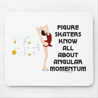 Figure Skaters Know All About Angular Momentum Mouse Pad