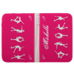 Figure Skaters NEON PINK & Stars Case - Add Name Kindle Cases