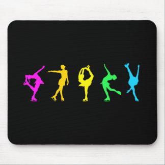 Figure Skaters Pastel Rainbow Mouse Pad