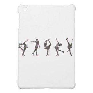 Figure Skaters, Pink, Gray Pattern iPad Mini Case