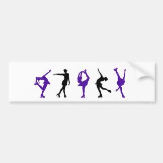 Figure Skaters - Purple Black Bumper Sticker