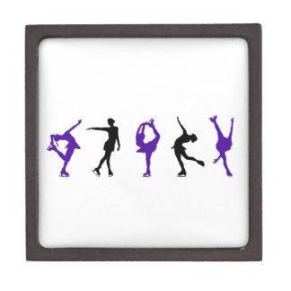 Figure Skaters - Purple & Black Gift Box