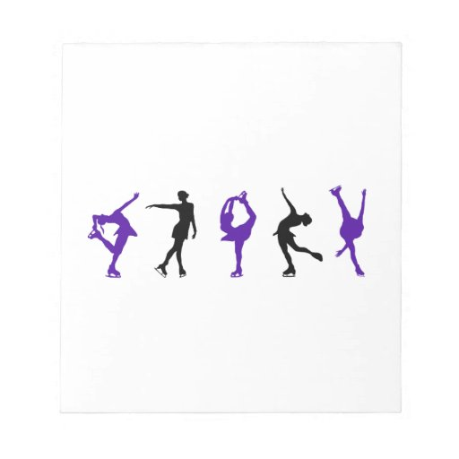 Figure Skaters - Purple & Black Scratch Pad