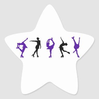 Figure Skaters - Purple & Black Star Sticker