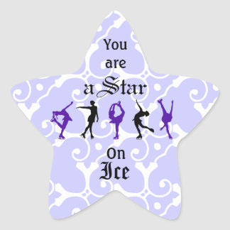 Figure Skaters - you are a Star - lilac Star Sticker