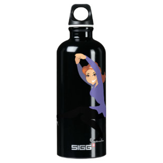 Figure Skating Aluminum Water Bottle