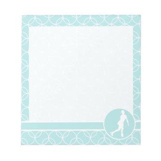 Figure Skating; Baby Blue Circles Memo Notepads