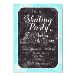 Figure Skating Birthday Invitation