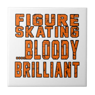Figure Skating Bloody Brilliant Small Square Tile