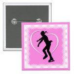 Figure Skating Button - Pink