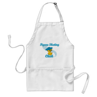 Figure Skating Chick #3 Adult Apron