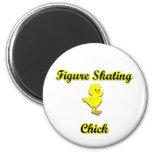 Figure Skating Chick Refrigerator Magnets