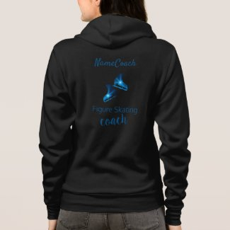 Figure skating coach jacket - blue star