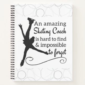 Figure skating coach notebook - Hard to find