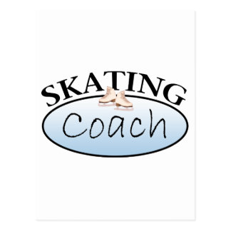 Figure Skating Coach Postcard