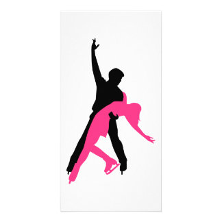 Figure skating couple photo greeting card