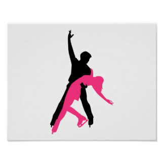 Figure skating couple poster