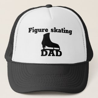 Figure skating Dad cap - B&W skate