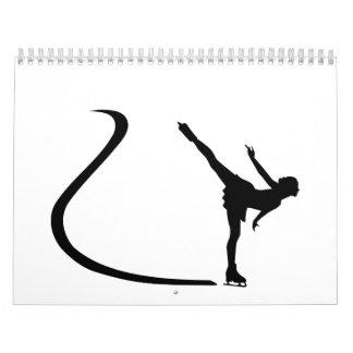 Figure skating girl calendar