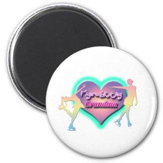 figure skating grandma pastels magnet