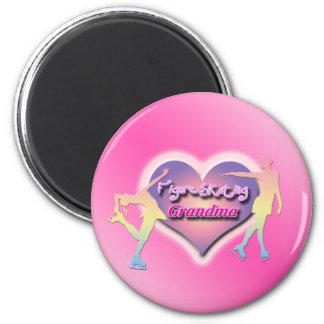Figure Skating Grandma - Pastels Magnet