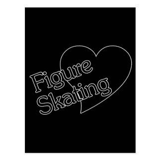 Figure Skating Heart/Love Postcard