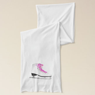 Figure Skating - Ice Skate Pink and White Scarf
