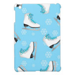 Figure Skating - Ice Skates Blue with Snowflakes Cover For The iPad Mini